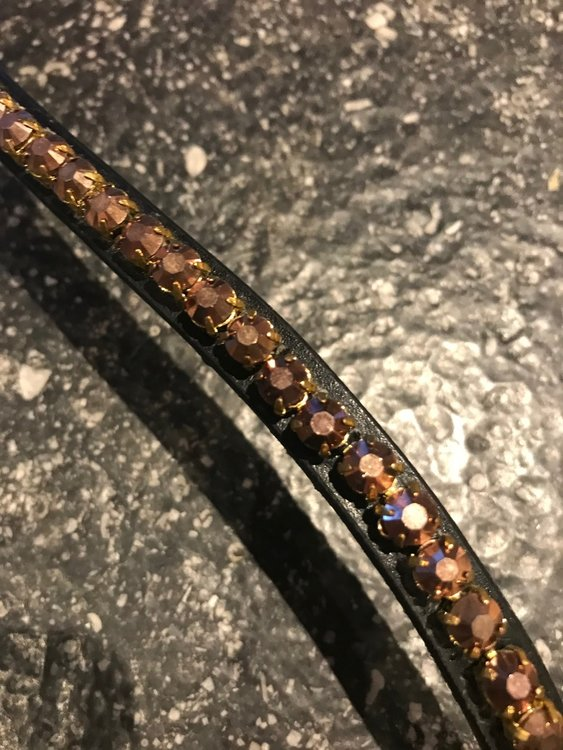Browband in Brown Bronzé crystals