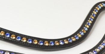 Browband Blue/Gold B2F
