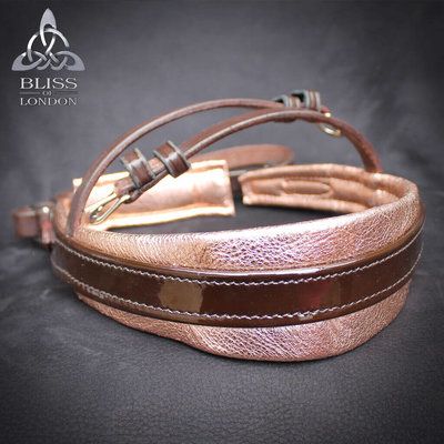 Senso-Touch Metallic Gold Rosé Noseband without flash