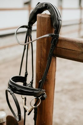 Finesse snaffle Black/Silver