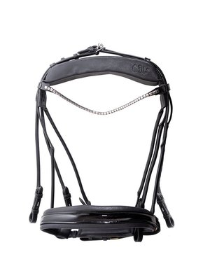 Finesse weymouth bridle Black/Silver