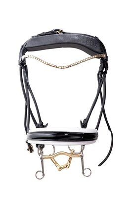 Finesse weymouth bridle Black/GOLD