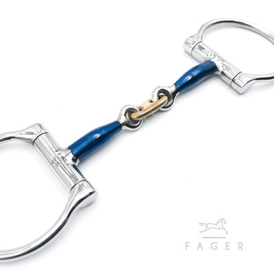 Alexander D-ring with french link (Fager)