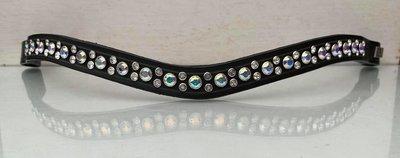 Zizi Browband Shimmering Star Blue/White