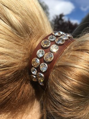 Zizi Hairband Shining XL Shadow/Crystal