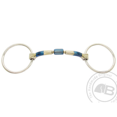 Barrel 20 Blue Iron Loose ring snaffle Bombers