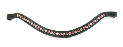 Browband Pink-White 7mm B2F