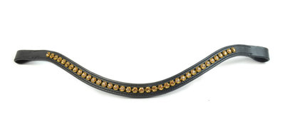 Browband Gold 7mm B2F