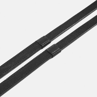 Albion Snaffle reins in leather with one side rubber