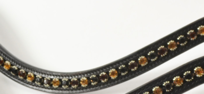 Browband Black/Gold/Copper B2F
