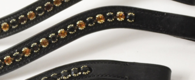 Browband Black/Gold B2F