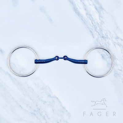 Carl Double jointed Titanium snaffle (Fager)