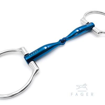 Lilly single jointed Titanium D-snaffle (Fager)