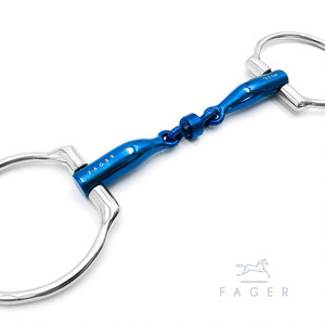 Bianca Double jointed Titanium D-snaffle (Fager)