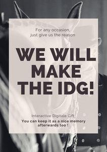 Interactive Digital Gift or IDG